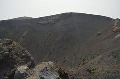Innenkrater des La Palma In The Canary Islands Sans Antonio Volcano On The Island Of Reise, Natur, Feiertage, Geologie lizenzfreie stockfotografie