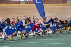 Innenleichtathletik Wien 2015 Stockbild
