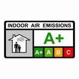 Innenluft-Emissionsvektordesign lizenzfreies stockfoto