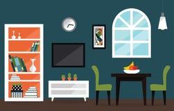 Innenmöbel eines Wohnzimmers Stockfotografie