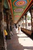 Innenmalereien eines hindischen Tempels in Indien Stockfotografie