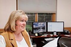Innenministerium der fälligen Frau Stockbild