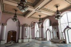 Innenraum am alten Geschichtekasinogebäude Lizenzfreies Stockbild