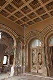 Innenraum am alten Geschichtekasinogebäude Stockbild