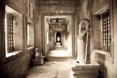 Innenraum, Angkor Wat, Kambodscha Lizenzfreies Stockbild
