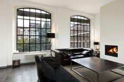 Innenraum, Ansicht des Wohnzimmers stockbilder
