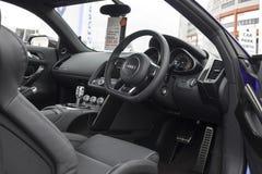 Innenraum Audis R8 v10 Stockfotografie