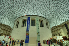 Innenraum British Museums, London Stockbilder