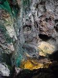 Innenraum Cueva de Los Verdes in Lanzarote Innenbeleuchtung der Höhle stockfotografie