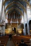 Innenraum der Albi-Kathedrale lizenzfreies stockfoto