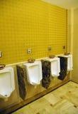 Innenraum der allgemeinen Toilette des Hotels Lizenzfreies Stockbild
