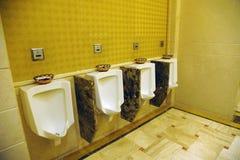 Innenraum der allgemeinen Toilette des Hotels Lizenzfreie Stockbilder