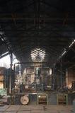 Innenraum der alten Fabrik Lizenzfreie Stockfotos