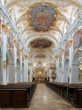Innenraum der alten Kapelle in Regensburg, Deutschland Lizenzfreie Stockbilder