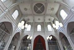 Innenraum der Amstelkerk Kirche in Amsterdam die Niederlande Stockfotos