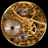 Innenraum der antiken Handwown Uhr Stockfotos