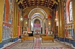 Innenraum der armenischen Kathedrale Lizenzfreies Stockfoto