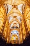 Innenraum der Barcelona-Kathedrale in Barcelona, Spanien Lizenzfreie Stockfotos