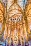 Innenraum der Barcelona-Kathedrale, Katalonien, Spanien Stockfoto