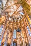 Innenraum der Barcelona-Kathedrale, Katalonien, Spanien Stockbild