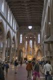 Innenraum der Basilika von Santa Croce oder der Basilika vom heiligen Lizenzfreies Stockfoto
