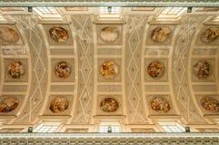 Innenraum der Basilika von St Lawrence der Märtyrer ist die Kathedrale in Trapani Lizenzfreies Stockfoto