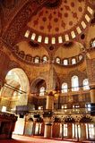 Innenraum der blauen Moschee in Istanbul Lizenzfreies Stockfoto
