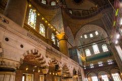 Innenraum der blauen Moschee, Sultanahmet Camii Istanbul Die Türkei stockfoto