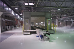 Innenraum der Fabrik Stockbild