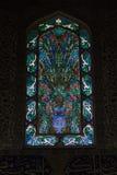 Innenraum der Fenster in Topkapi-Palast in Istanbul Lizenzfreies Stockbild