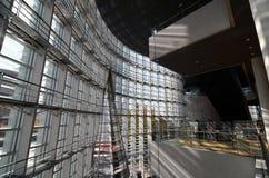 Innenraum der futuristischen Architektur stockfoto