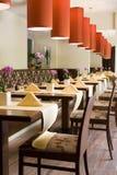 Innenraum der Gaststätte Lizenzfreies Stockbild