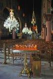 Innenraum der griechisch-orthodoxen Kirche Stockfoto