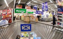 Innenraum der Grossmarkt METROS Lizenzfreie Stockbilder