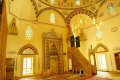 Innenraum der Haube der Koski-Mehmed-Pasha-Moschee stockfoto