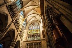 Innenraum der Köln-Kathedrale, Deutschland Lizenzfreies Stockbild