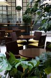 Innenraum der Kaffeestube Lizenzfreies Stockbild