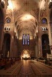 Innenraum der Kathedrale stockfotografie