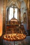 Innenraum der Kathedrale stockbild