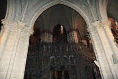 Innenraum der Kathedrale, die Stadt von Toledo, Spanien Lizenzfreie Stockfotografie