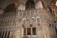 Innenraum der Kathedrale, die Stadt von Toledo, Spanien Lizenzfreie Stockbilder