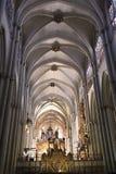 Innenraum der Kathedrale, die Stadt von Toledo, Spanien Lizenzfreie Stockfotos