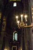 Innenraum der Kathedrale Santa Maria Nuova von Monreale in Sizilien, Italien Stockbilder