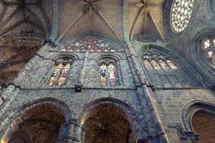 Innenraum in der Kathedrale von Avila Stockfoto
