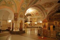 Innenraum der Kathedrale von Christus der Retter in Moskau Lizenzfreie Stockbilder