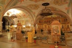 Innenraum der Kathedrale von Christus der Retter in Moskau Lizenzfreies Stockfoto