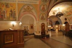 Innenraum der Kathedrale von Christus der Retter in Moskau Stockfotografie