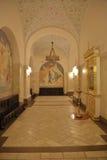 Innenraum der Kathedrale von Christus der Retter in Moskau Stockbild