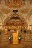 Innenraum der Kathedrale von Christus der Retter in Moskau Lizenzfreie Stockfotografie