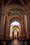 Innenraum der katholischen Kirche Lizenzfreie Stockbilder
